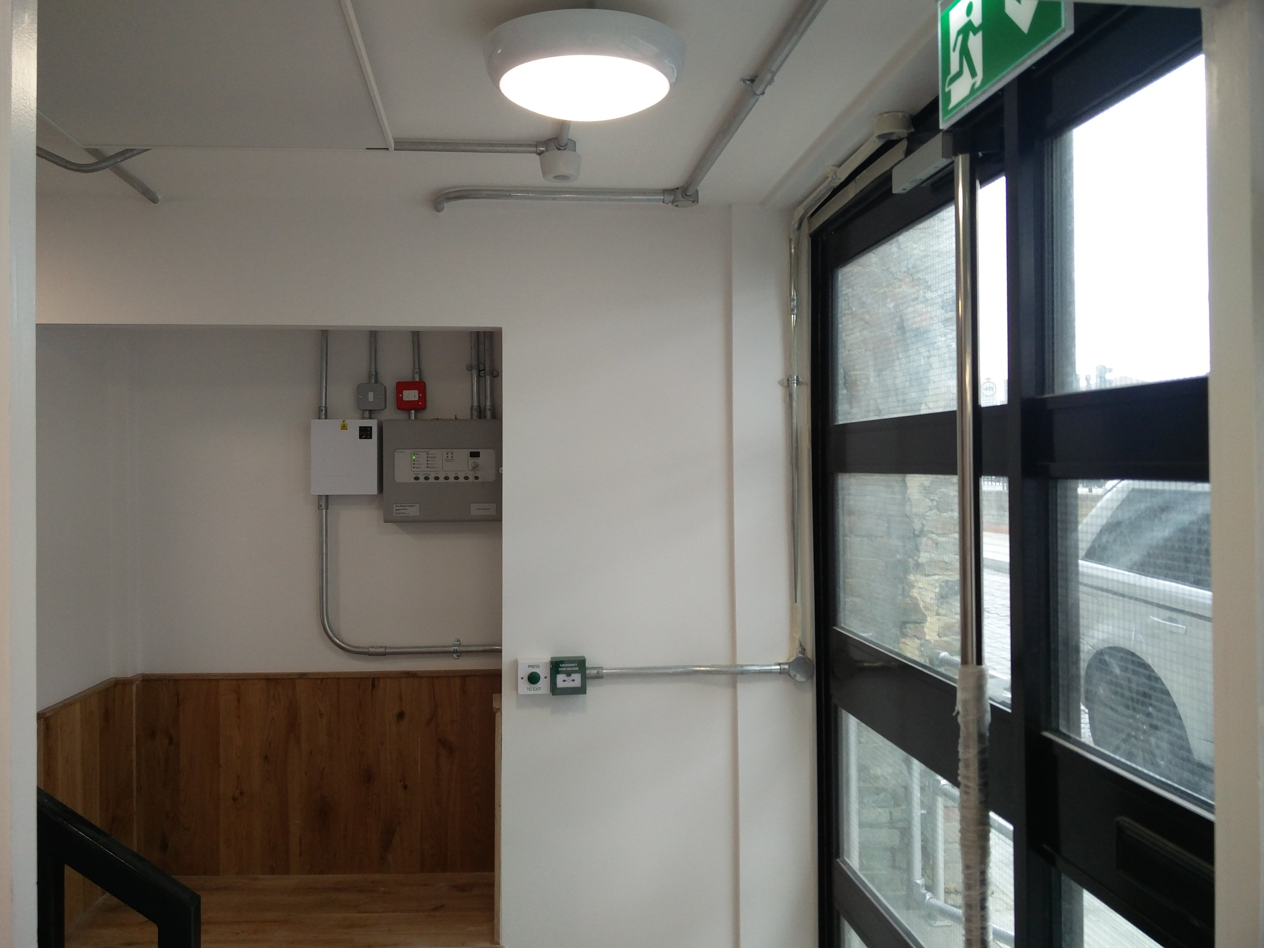 Fire alarm system installed by South East Electricians Hackney E8 London